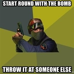 Counter Strike - Start round with the bomb throw it at someone else