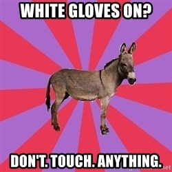 Jackass Drum Major - white gloves on? don't. touch. anything.