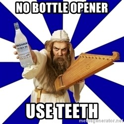 FinnishProblems - No bottle opener Use teeth
