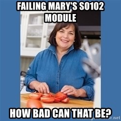 Ina Garten - Failing Mary's so102 Module How Bad Can That be?