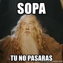 You shall not pass - SOPA Tu no pasaras