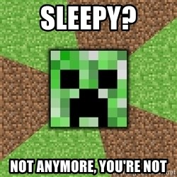 Minecraft Creeper - SleepY? Not anymore, you're not