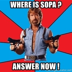 Chuck Norris  - Where is SOPA ? Answer now !