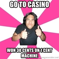 Over Excited Asian - go to casino won 30 cents on 1 cent machine