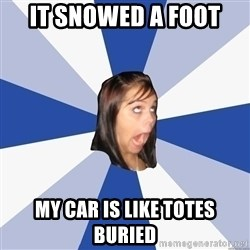 Annoying Facebook Girl - It snowed a foot my car is like totes buried