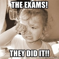 Distressed Toddler - the exams! they did it!!