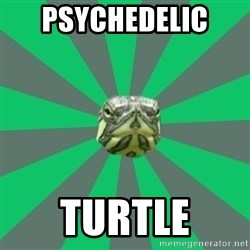 Poker turtle - Psychedelic  turtle