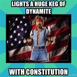 No Respect Norris - Lights a huge keg of Dynamite with constitution