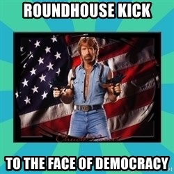 No Respect Norris - Roundhouse kick to the face of democracy