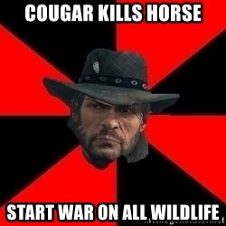 John Marston - cougar kills horse start war on all wildlife