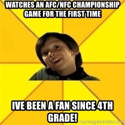 es bakans - WATCHES AN AFC/NFC CHAMPIONSHIP GAME FOR THE FIRST TIME IVE BEEN A FAN since 4th Grade!