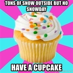 Have a Fucking Cupcake - tons of snow outside but no snowday have a cupcake