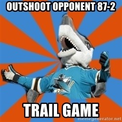 SJ Sharks Fail - Outshoot opponent 87-2 Trail game