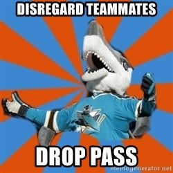 SJ Sharks Fail - Disregard teammates drop pass