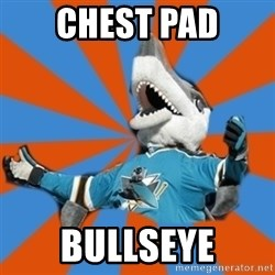 SJ Sharks Fail - Chest pad bullseye