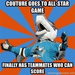SJ Sharks Fail - couture goes to all-star game finally has teammates who can score