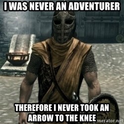 skyrim whiterun guard - i was never an adventurer therefore i never took an arrow to the knee