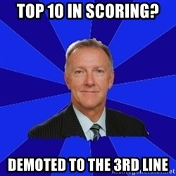 Ron Wilson/Leafs Memes - Top 10 in scoring? Demoted to the 3rd line