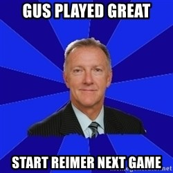 Ron Wilson/Leafs Memes - Gus played great start reimer next game