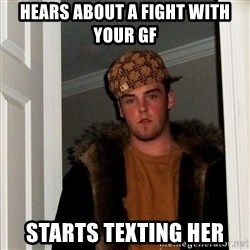 Scumbag Steve - Hears about a fight with your gf starts texting her