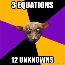 Engineering Student Bat - 3 equations 12 unknowns