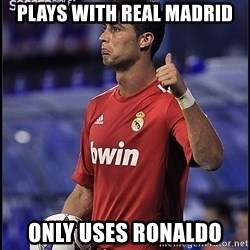 cristiano ronaldo - Plays With REal Madrid Only uses Ronaldo