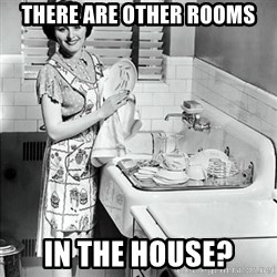 50s Housewife - there are other rooms in the house?