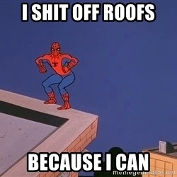 Spiderman12345 - I SHIT OFF ROOfs BECAUSE I CAN