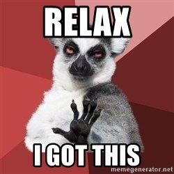 Chill Out Lemur - Relax i got this