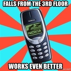 NOKIA 3310CHUCK2 - falls from the 3rd floor works even better
