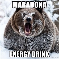 Clean Cocaine Bear - maradona energy drink