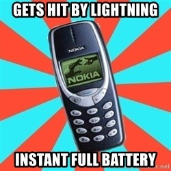 NOKIA 3310CHUCK2 - gets hit by lightning instant full battery