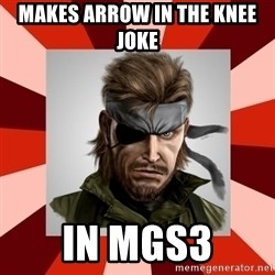 GERMAN SWIFT - MAKES ARROW IN THE KNEE JOKE IN MGS3