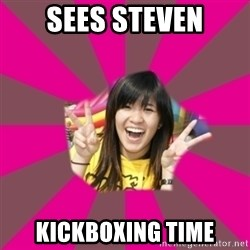 GOOD CHINESE STUDENT - sees steven kickboxing time