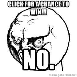 NO FACE - click for a chance to win!!! No.
