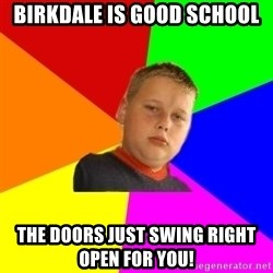 The bullied bully - Birkdale is good school the doors just swing right open for you!