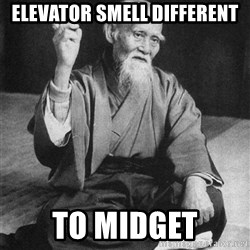Bad Advice Asian - Elevator smell different to midget