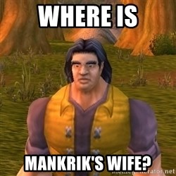 Noob WoW Player - WHERE IS MANKRIK'S WIFE?