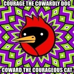 Omsk Crow - courage the cowardly dog coward the COURAGEOUS cat