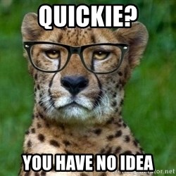 Hipster Cheetah - quickie? you have no idea