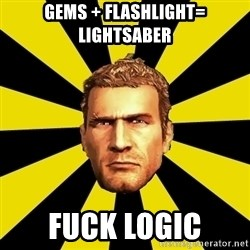 Chuck Greene - Gems + Flashlight= Lightsaber FUCK LOGIC