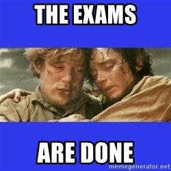 Lord of the Rings - the exams are done