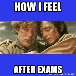 Lord of the Rings - HOW I FEEL AFTER EXAMS