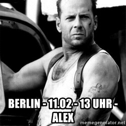 Bruce Willis - BERLIN - 11.02 - 13 UHR - ALEX