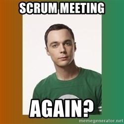 sheldon cooper  - scrum meeting again?