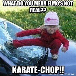 Angry Karate Girl - What do you mean elmo's Not Real?? Karate-Chop!!