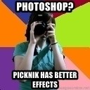 Professional Teenage Photographer - Photoshop? Picknik has better effects