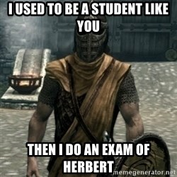 skyrim whiterun guard - i used to be a student like you then i do an exam of herbert