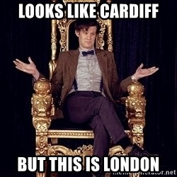 Hipster Doctor Who - looks like cardiff but this is london