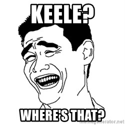 Asian Troll Face - Keele? Where's that?